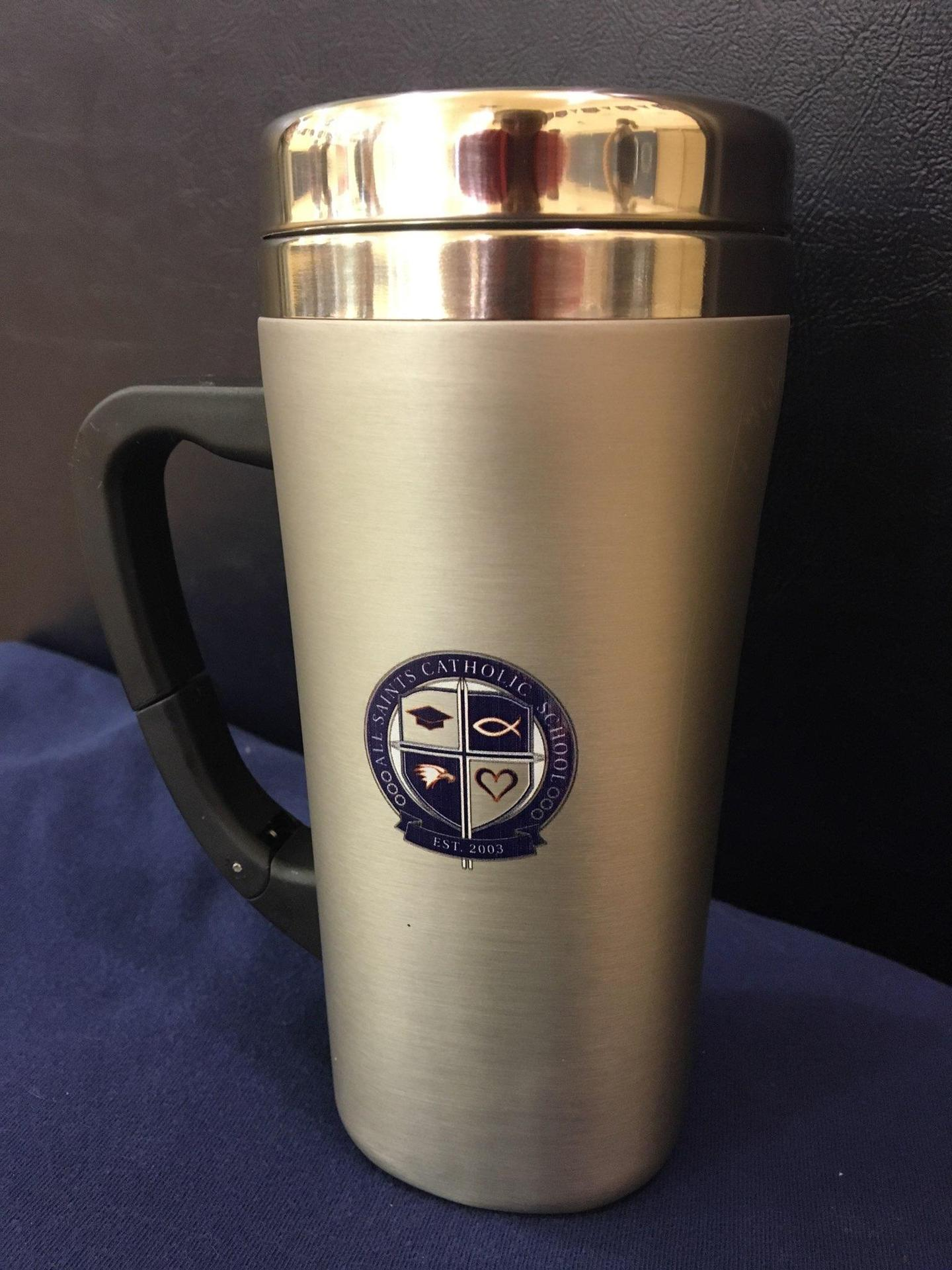 Navy Tumbler with School Crest