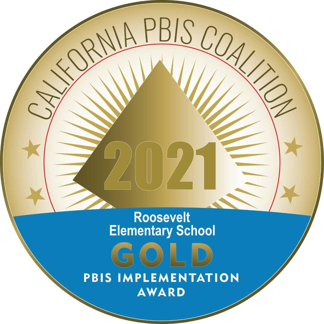 Gold PBIS logo