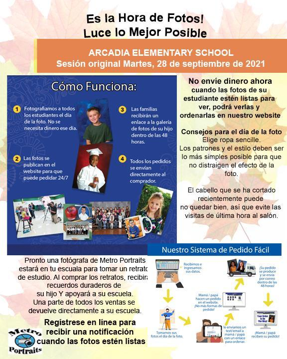 Picture day information_Spanish