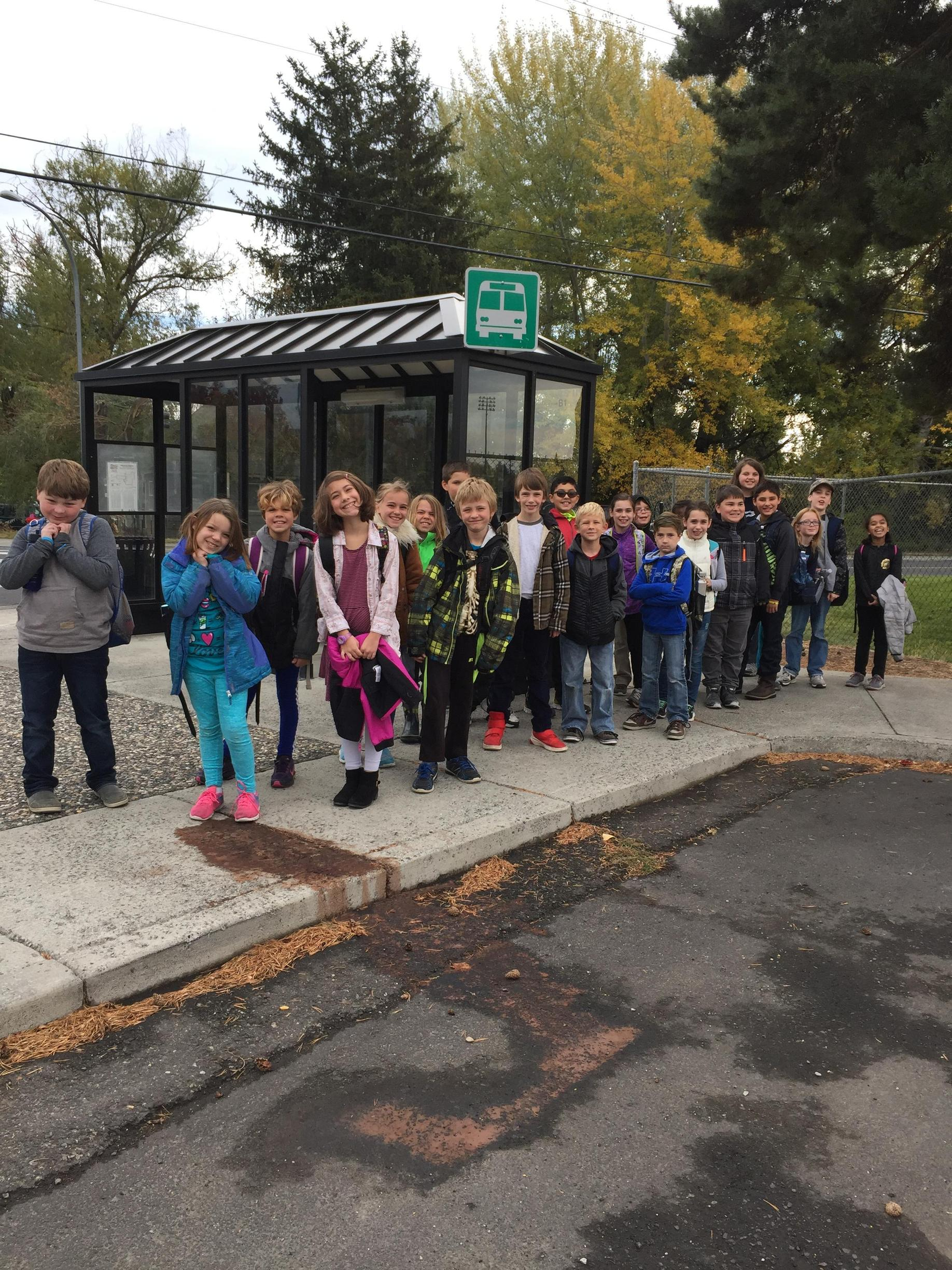 Off our our first field trip. We went to the Appaloosa Horse Museum using public transit. The class went on 14 trips for learning this year!