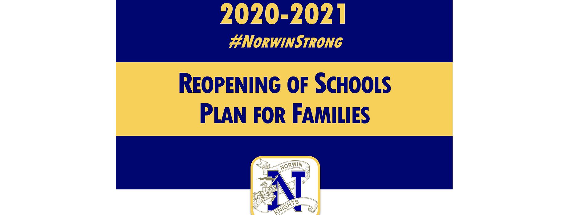 Reopening of Schools Plan