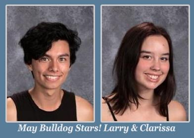 Larry and Clarissa May Students of the Month