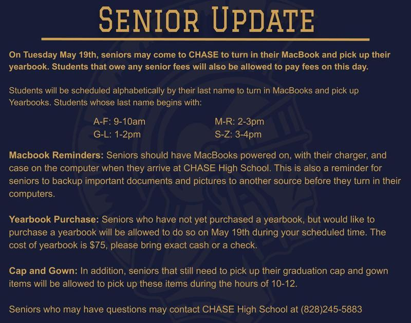 Senior Announcement for May 19th Featured Photo