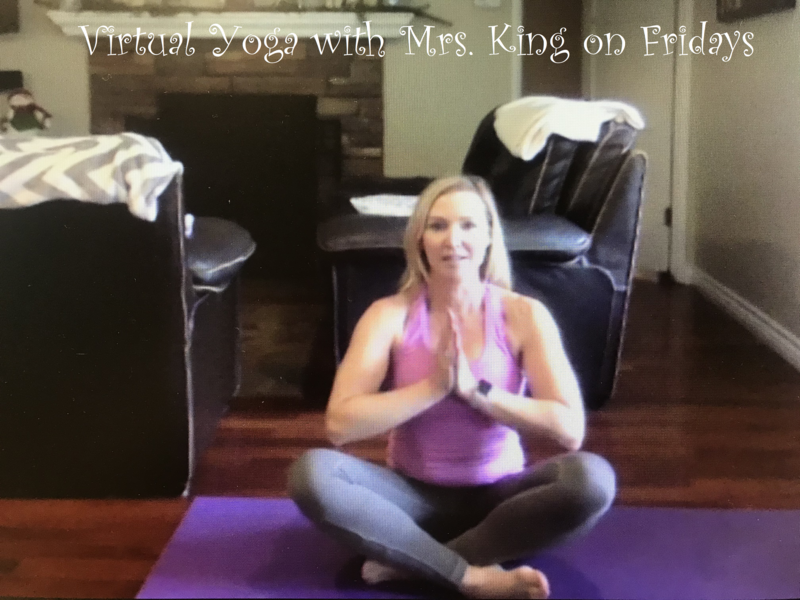 Virtual Yoga with Mrs. King on Fridays. Featured Photo