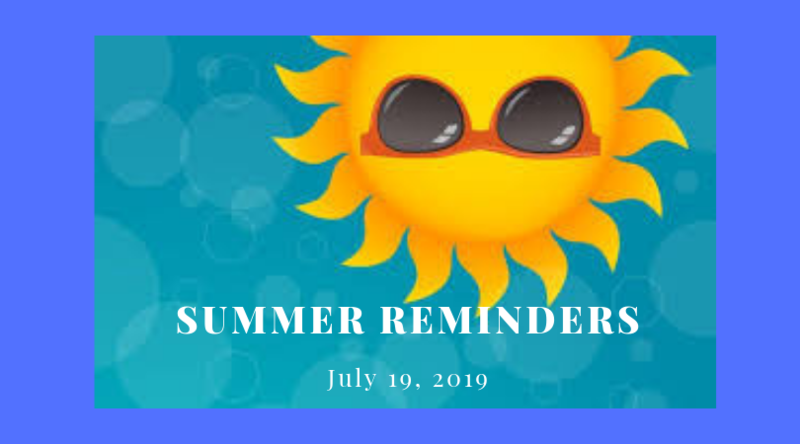 summer reminders graphic