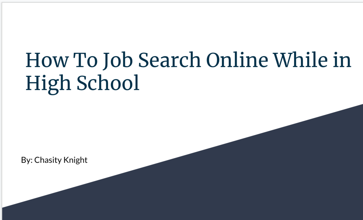 how to job search online while in high school