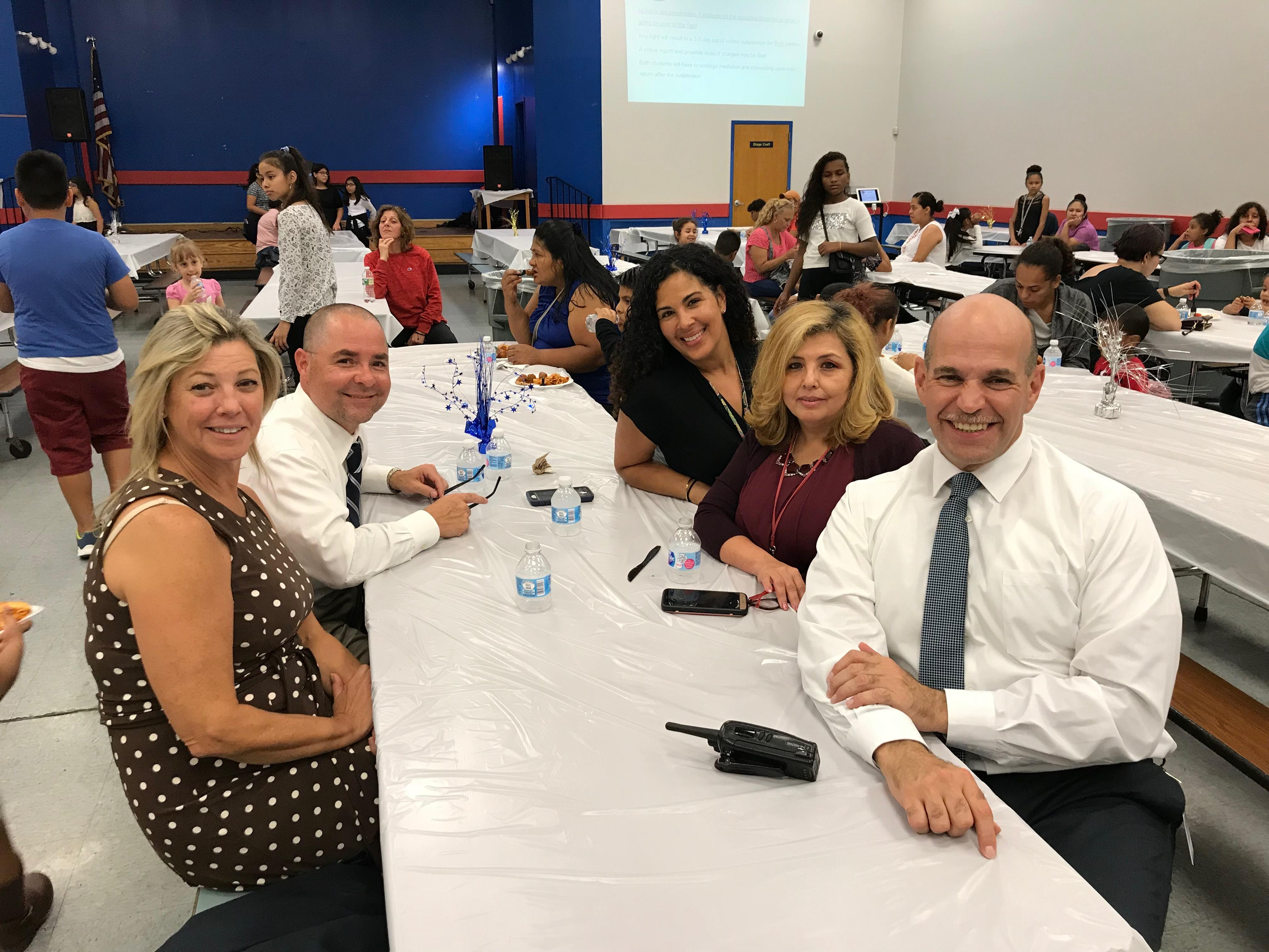 Edison's Administrative team ready to greet parents