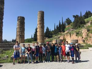 8th Grade Class in Greece