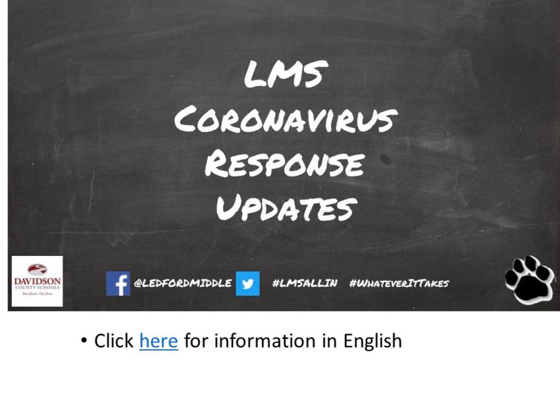 LMS Coronavirus Response Updates