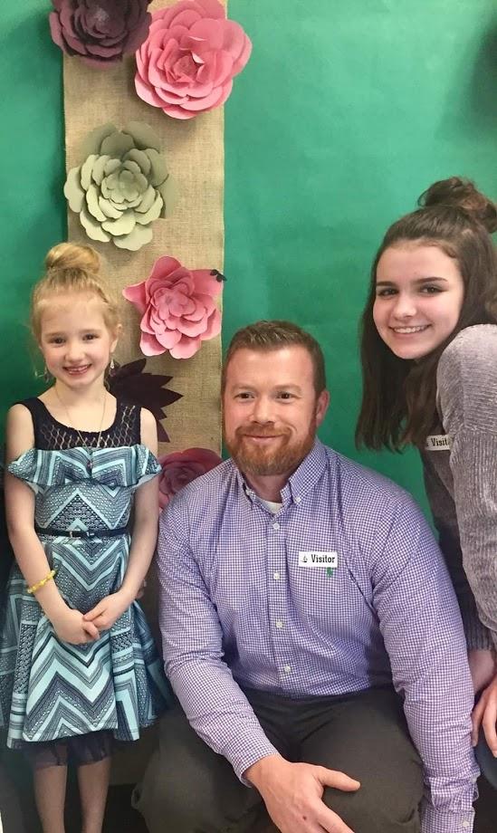 Mr. Jordan with his two daughters.