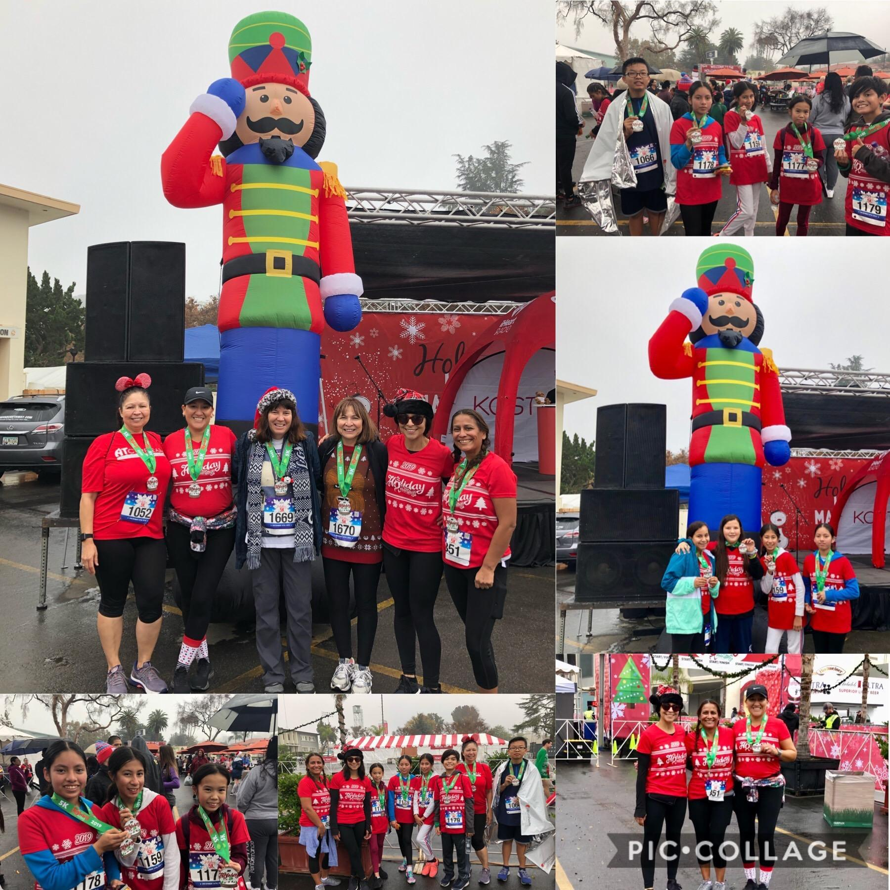 PIC OF STUDENTS AND STAFF AT 5K
