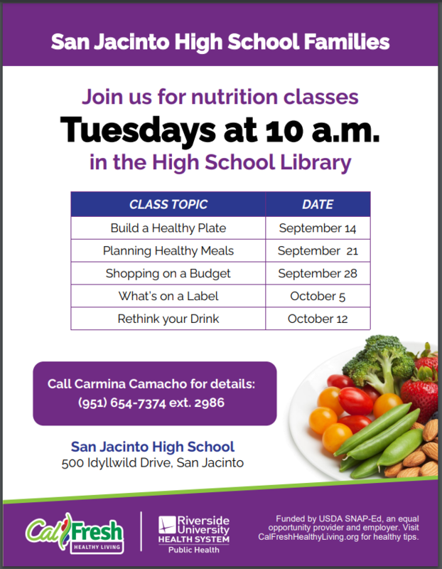 Family Nutrition Classes!