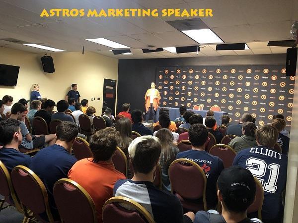 Astros Marketing Department Speaker