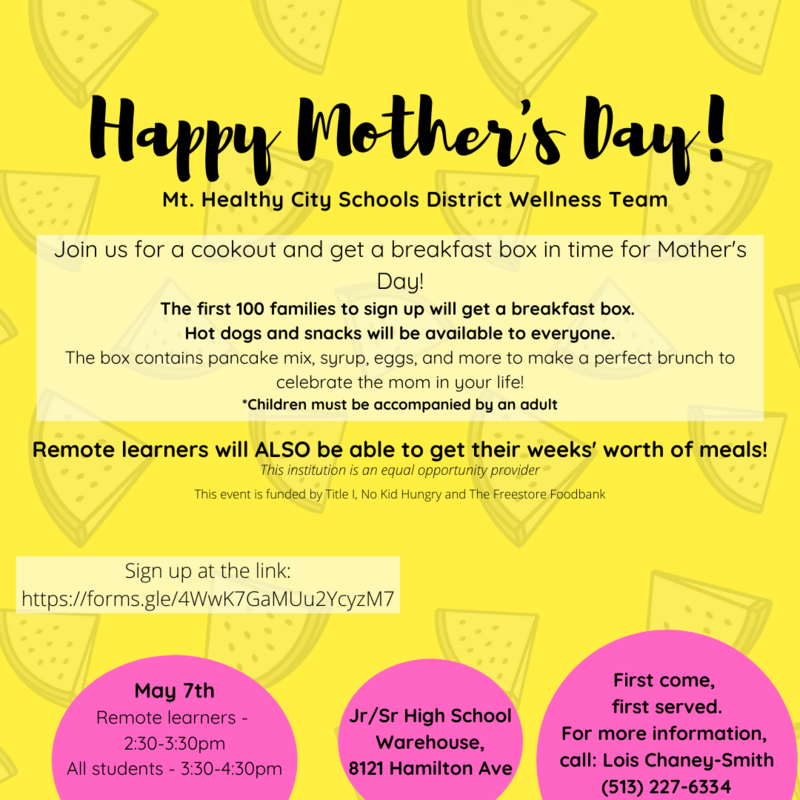 mothers day food box flyer