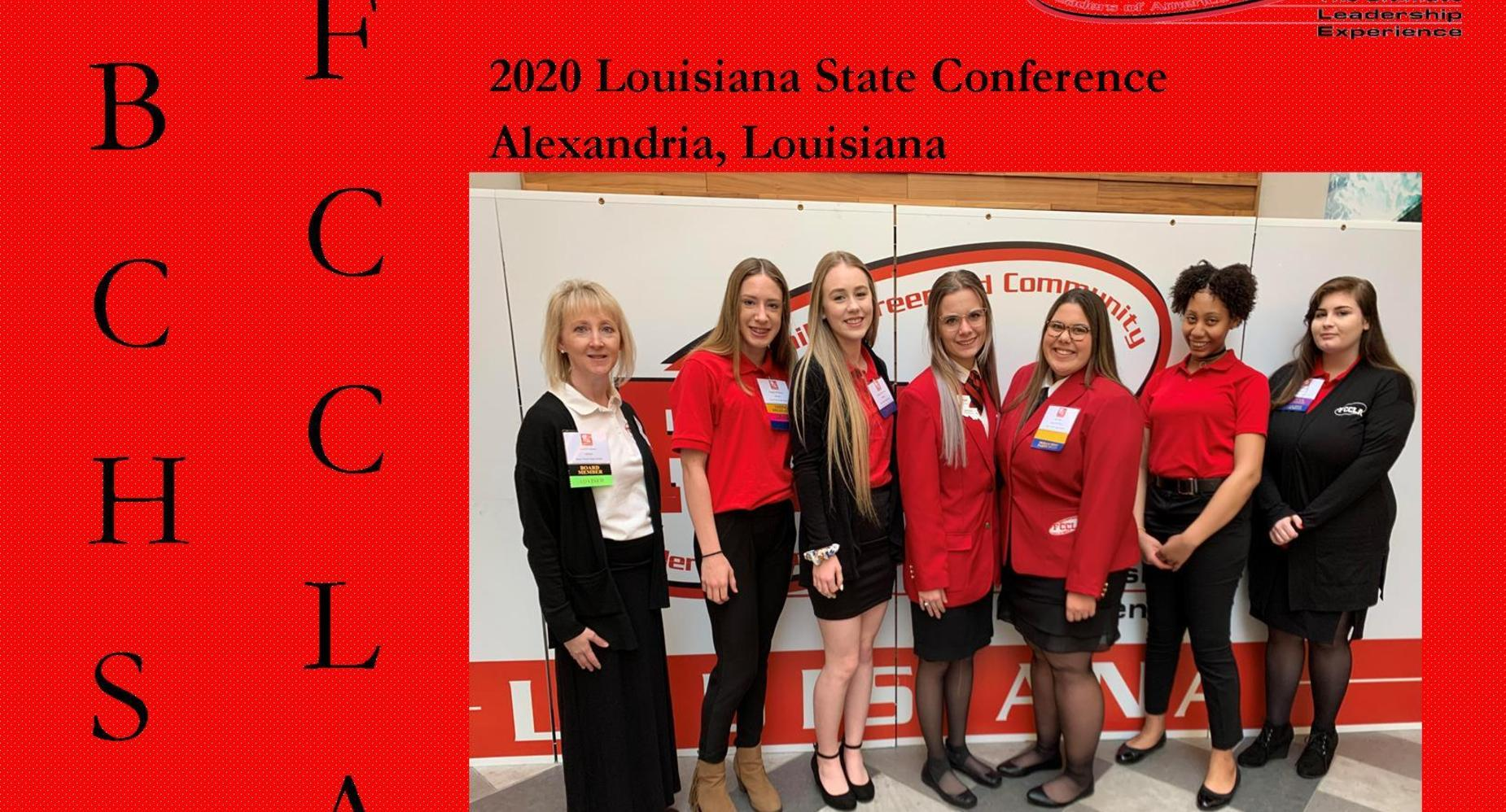 FCCLA BCHS students attends 2020 Louisiana State Conference in Alexandria, Louisiana