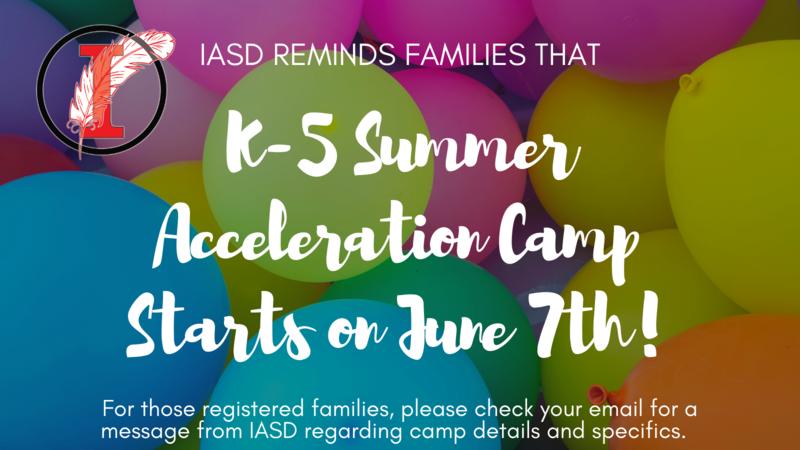 Summer Camp Reminder