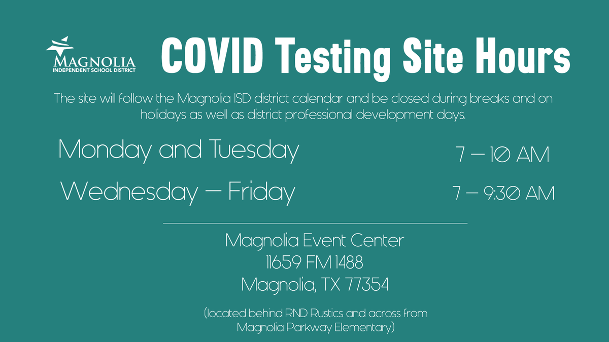 COVID Testing Clinic Hours