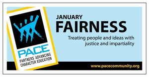 January PACE Character Trait - Fairness Banner
