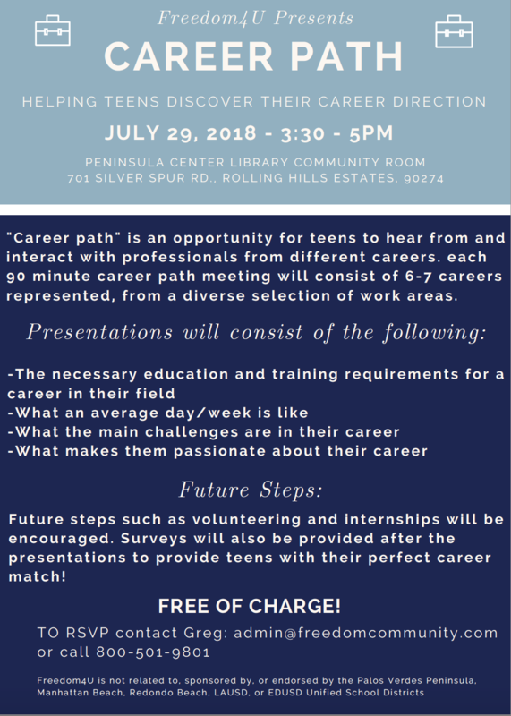 Flyer with Career Event