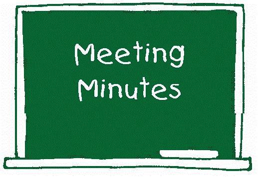 Meeting Minutes on green chalkboard