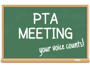PTA Meeting 1/19 @ 5:00PM