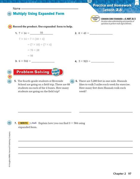 Go math p. 97 Multiply wth expanded form.JPG