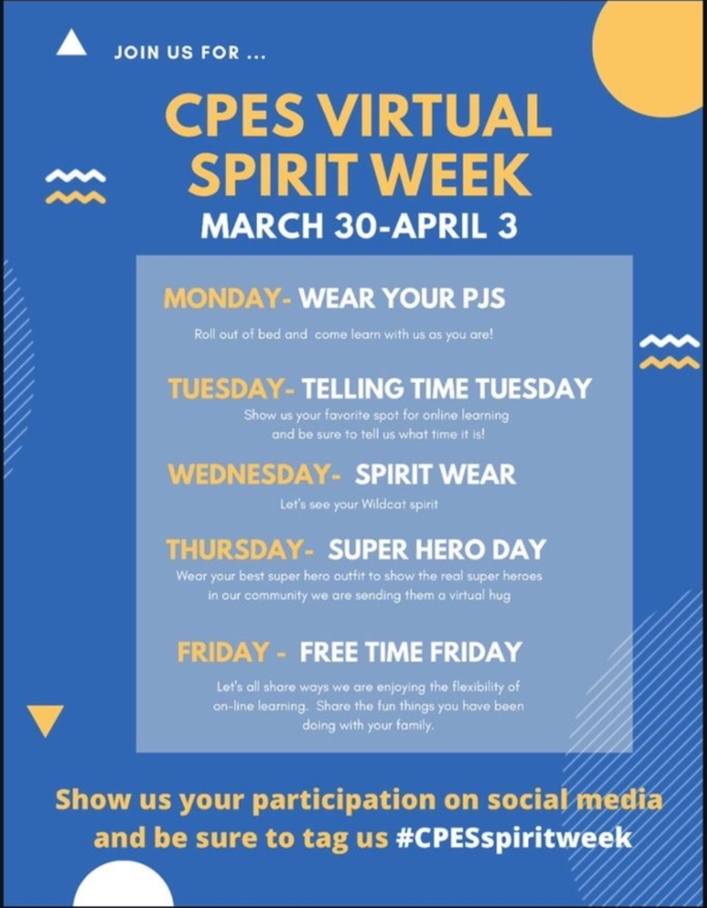 Join us for Canyon Pointe's Virtual Spirit Week!