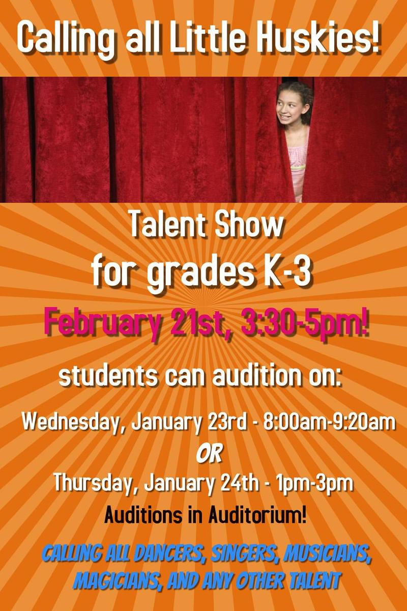 K-3 Talent Show Auditions! Featured Photo
