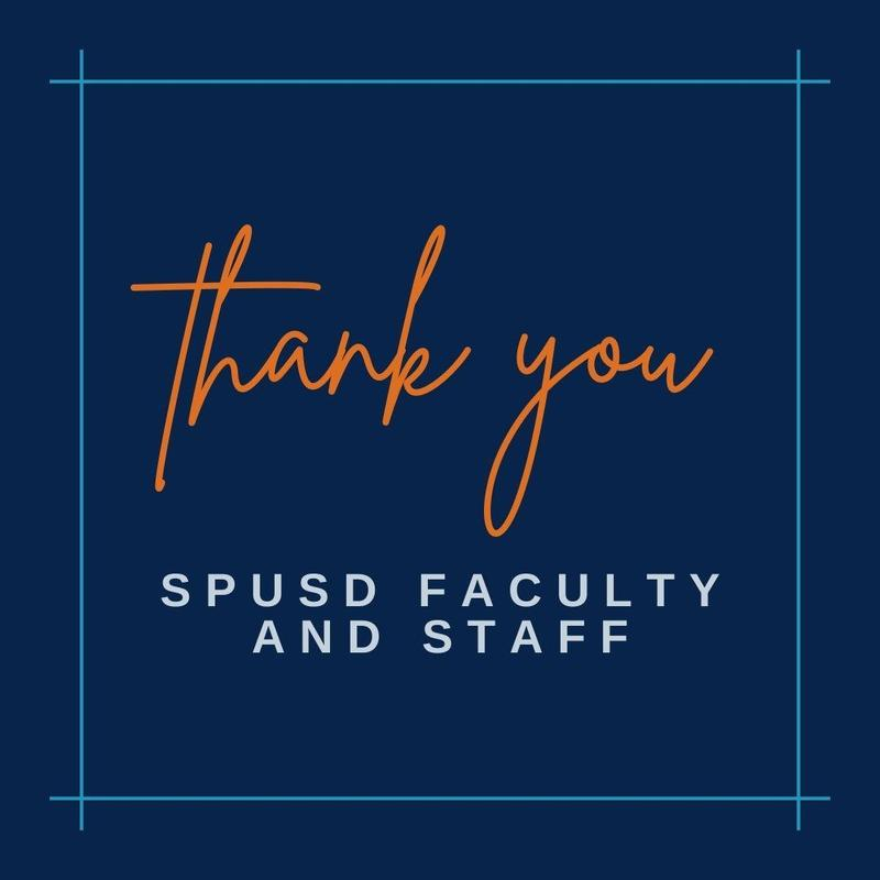 Thank you SPUSD Faculty & Staff