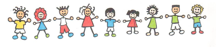 Children Standing Together Clipart
