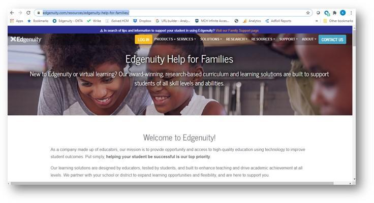 Edgenuity Help for Families