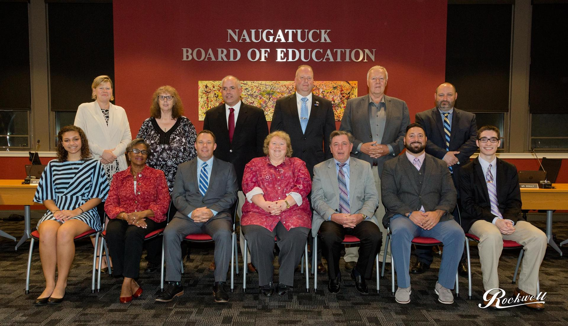Board of Education members pose for a photo