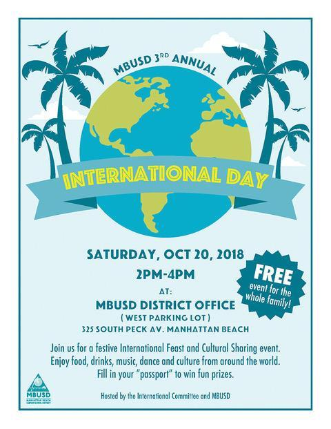 MBUSD 3rd Annual International Day – Sat, 10/20, 2PM - 4PM Thumbnail Image