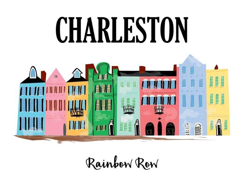 a picture of Charleston, SC's Rainbow Row