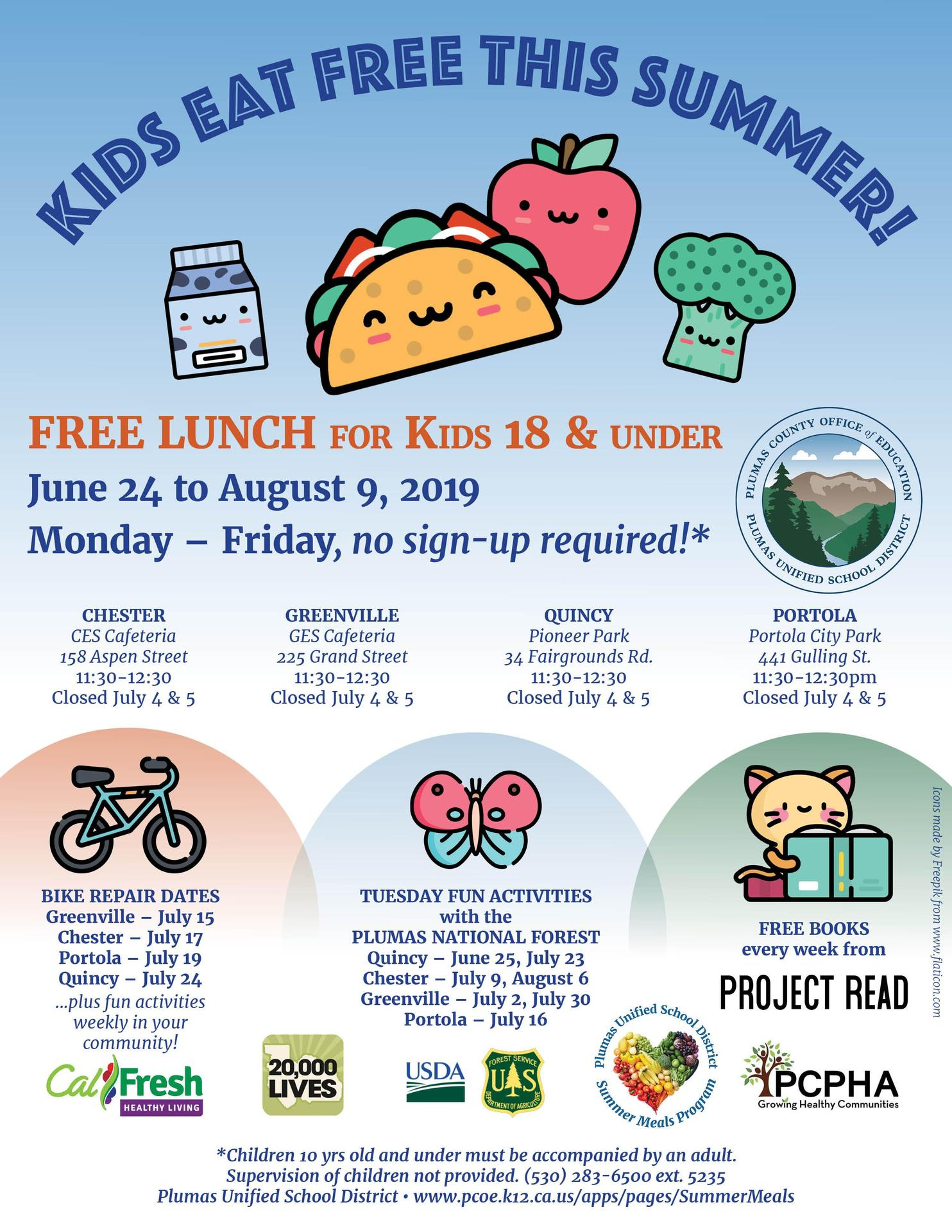 Summer Meal Program - Miscellaneous - Plumas Unified School