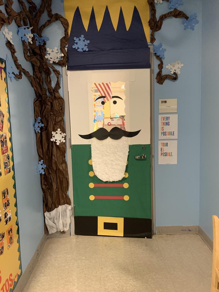 Nutrcracker door display