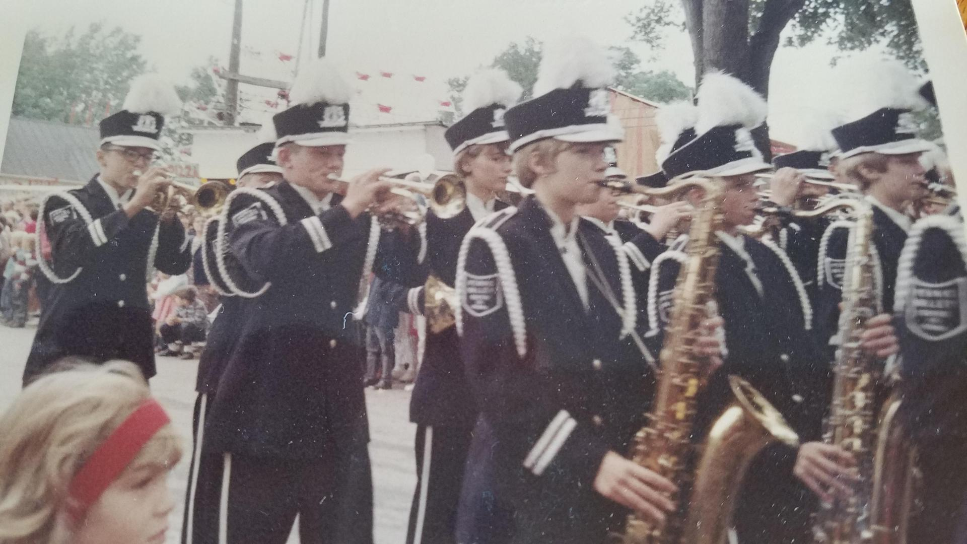 Penns Valley marching band 1967 Grange Fair Parade