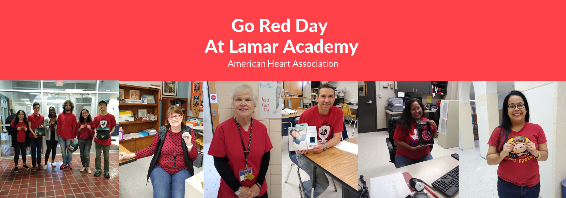 GO Red Day at Lamar Academy