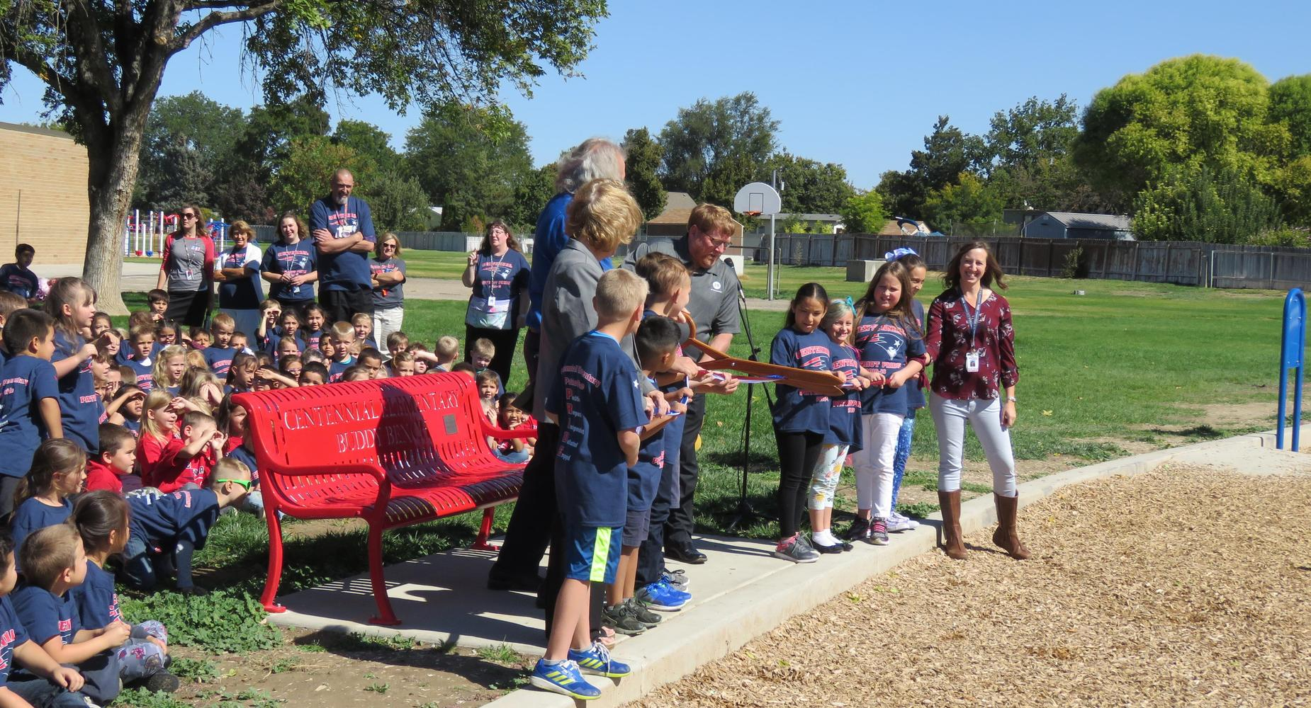 Buddy Bench Ribbon Cutting