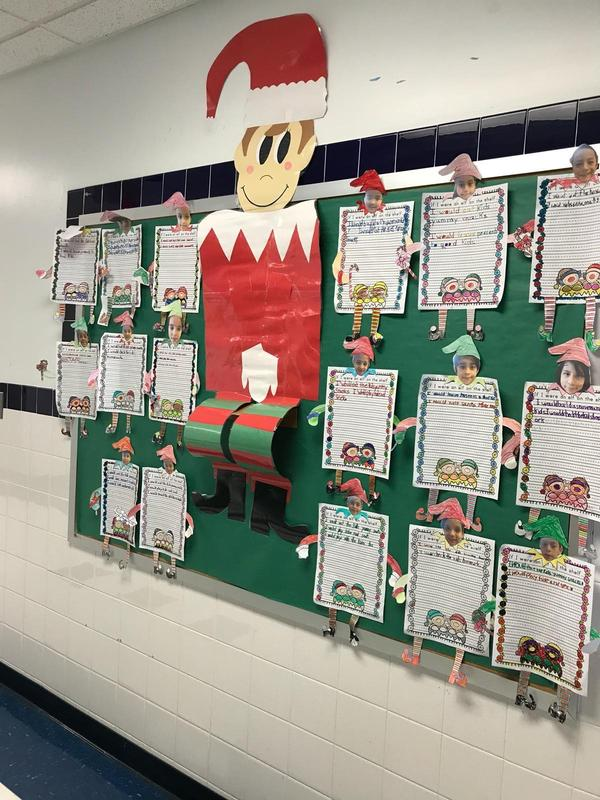 Elfing around bulletin board