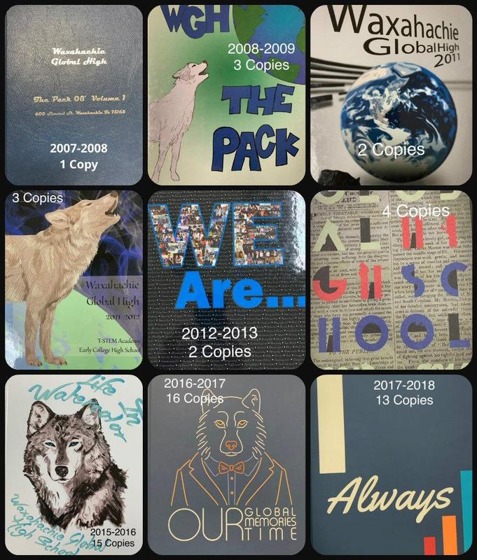 collage of yearbooks
