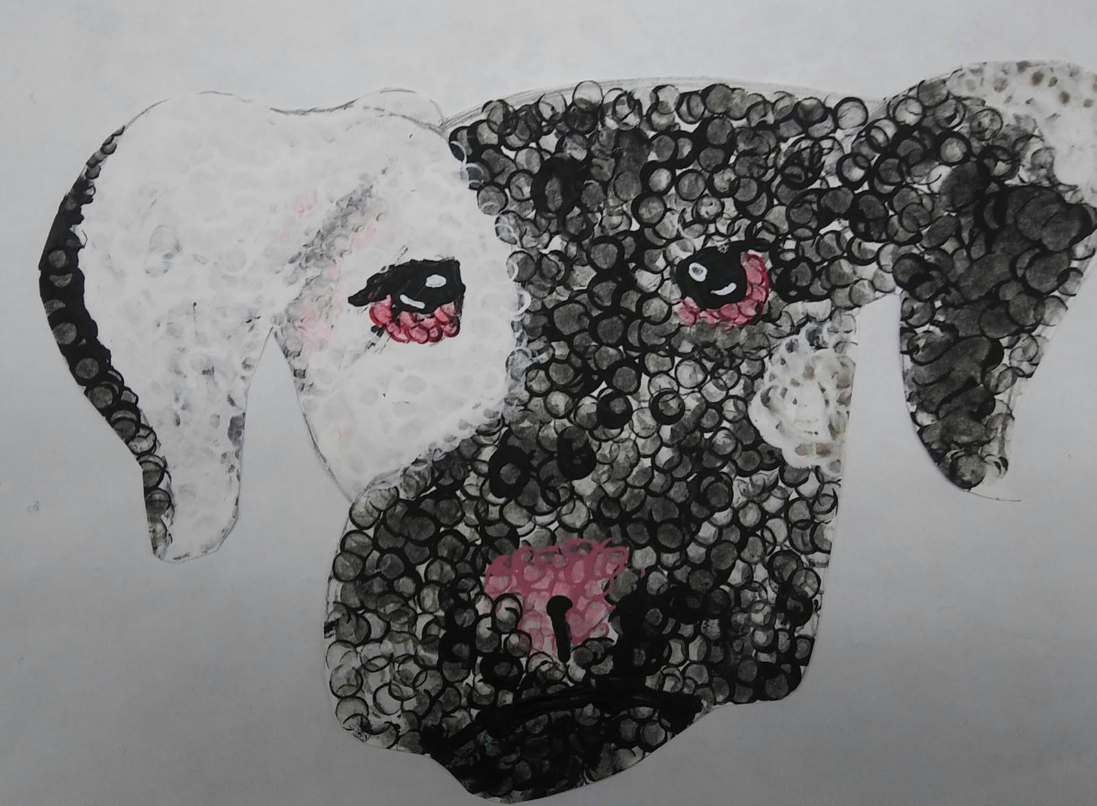 Landmark Student Painting of Dog
