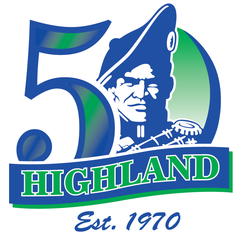 Highland Logo Branding our 50th Year