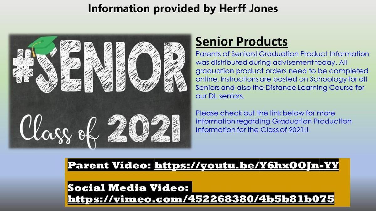Senior Products Info.