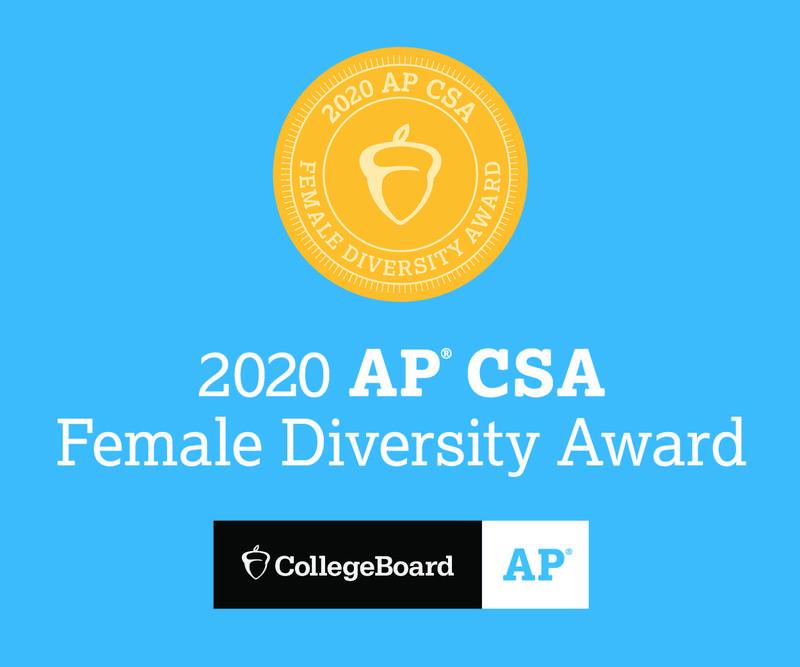 IHA Earns AP® Computer Science A Female Diversity Award Thumbnail Image