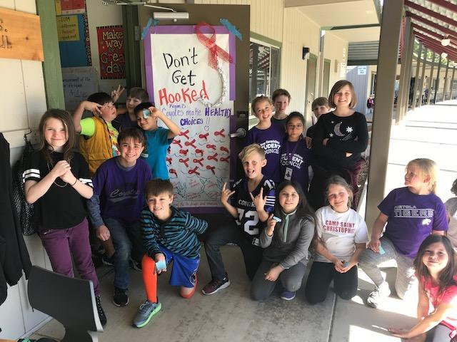Mrs. Maul's students celebrated Red Ribbon Week focusing on Healthy Choices
