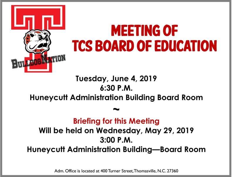 June 4 school board meeting