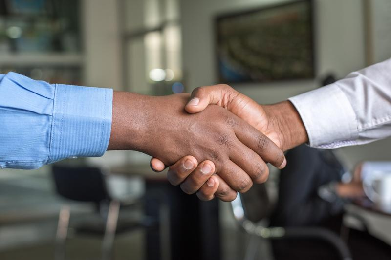 Handshake picture.