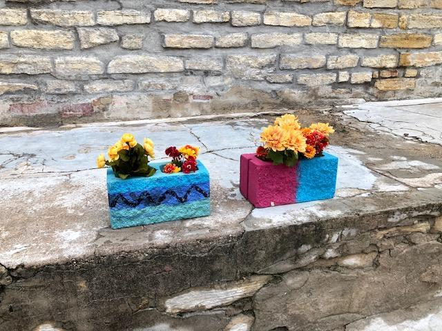 Planters made by ACE students