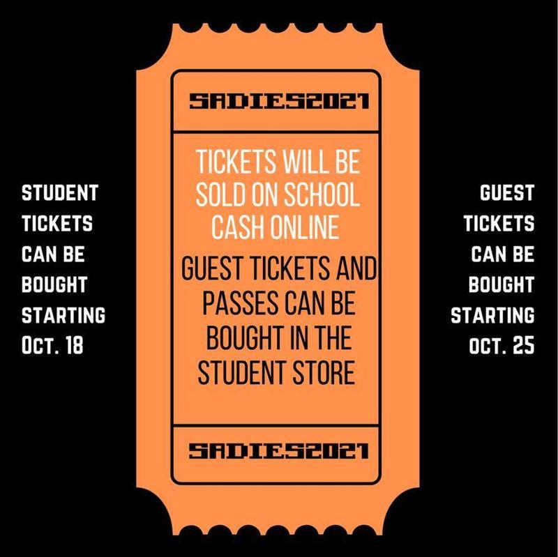 Sadies Dance Tickets Flyer